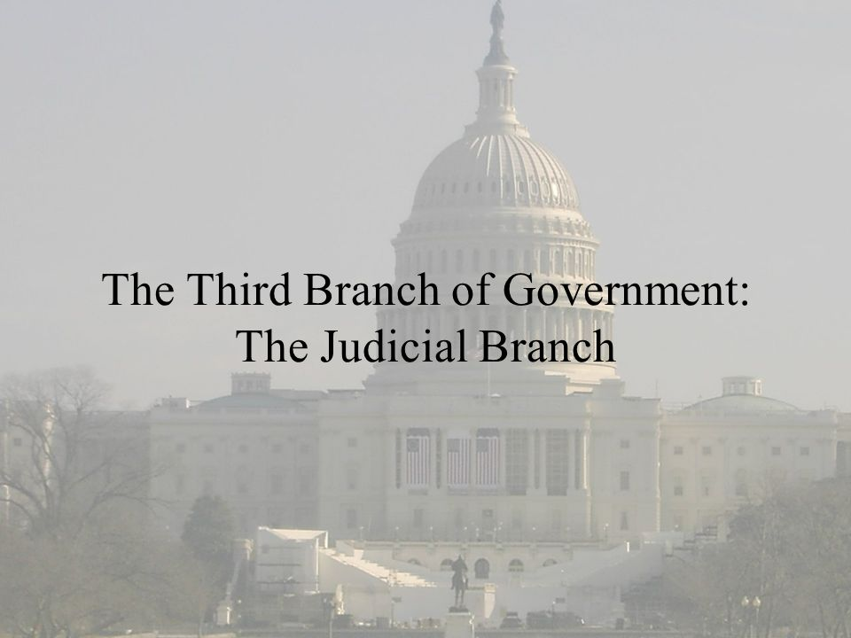 The Third Branch of Government: The Judicial Branch