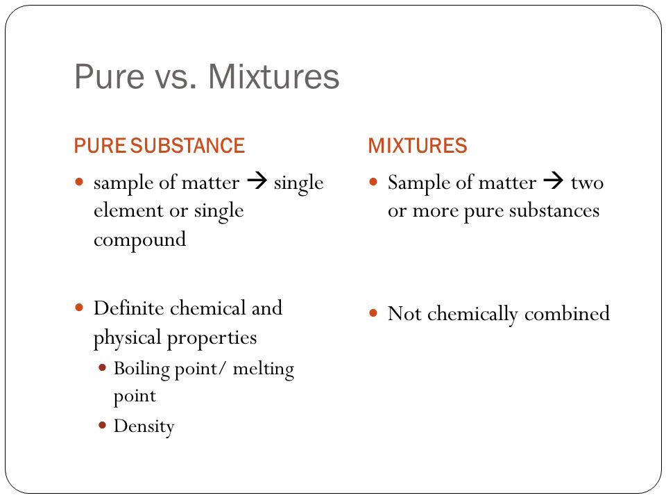 Chapter 13 Solutions. Pure vs. Mixtures PURE SUBSTANCEMIXTURES ...
