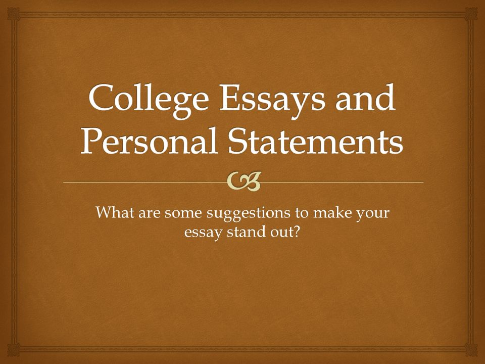 stand out college essays
