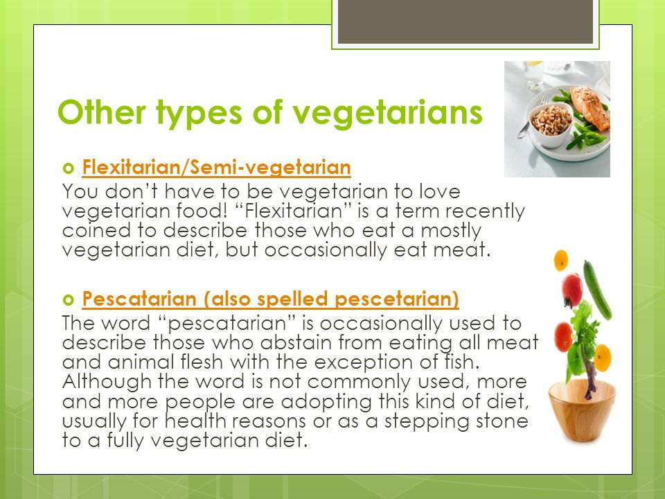 the different kinds of vegetarian