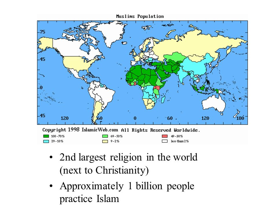 Islam Today Nd Largest Religion In The World Next To - Religion wise population world