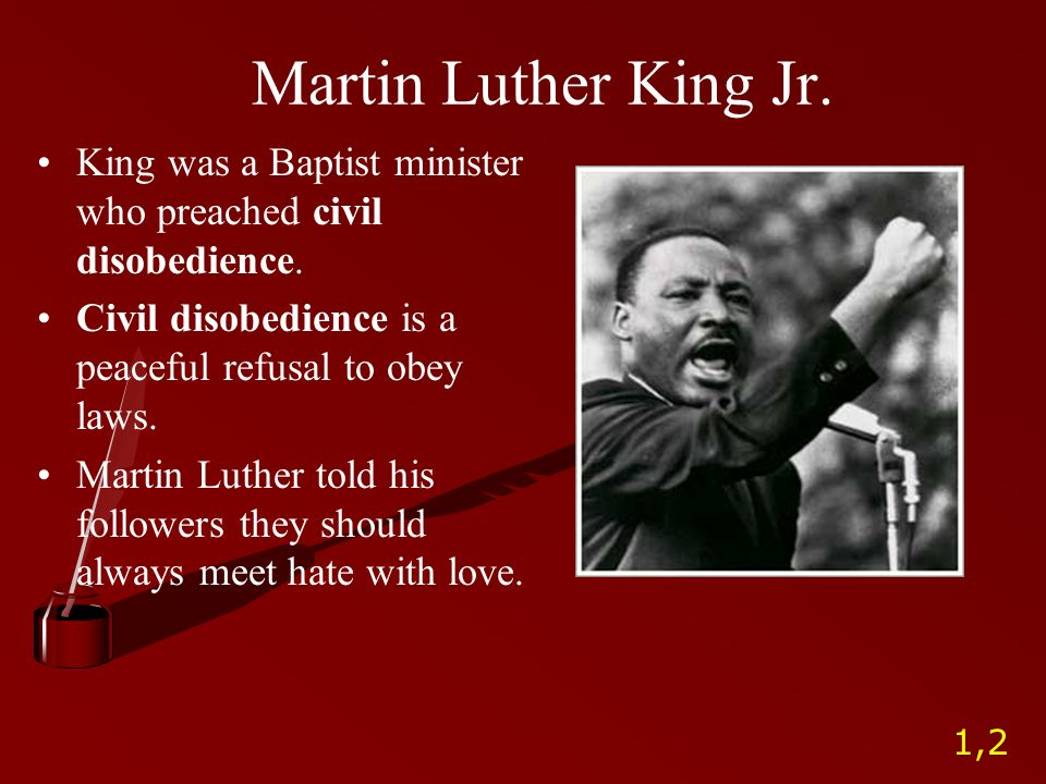 thesis of martin luther king
