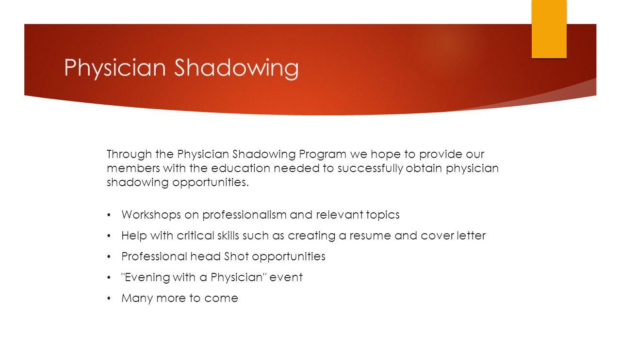 job shadowing essay example