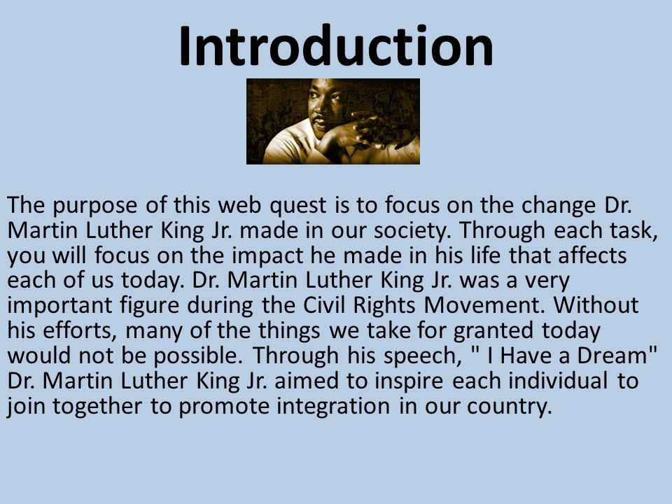 an introduction to the literature by martin luther king