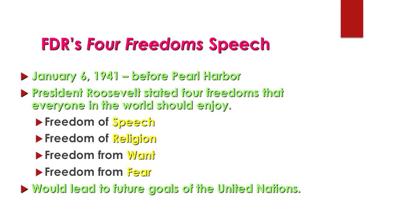 fdr four freedoms speech