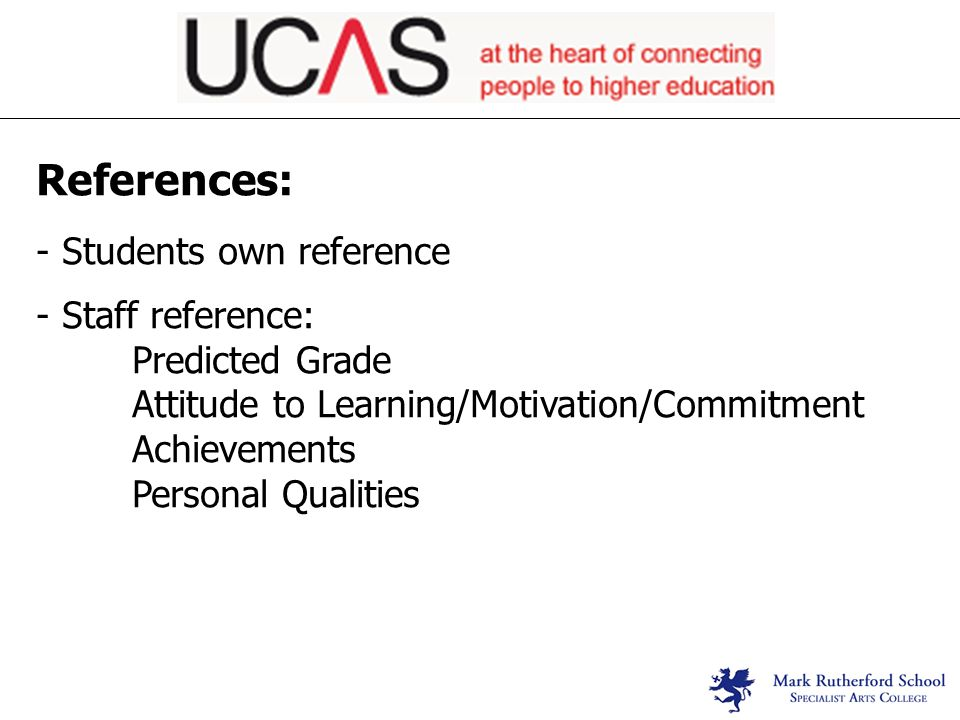 ucas reference examples