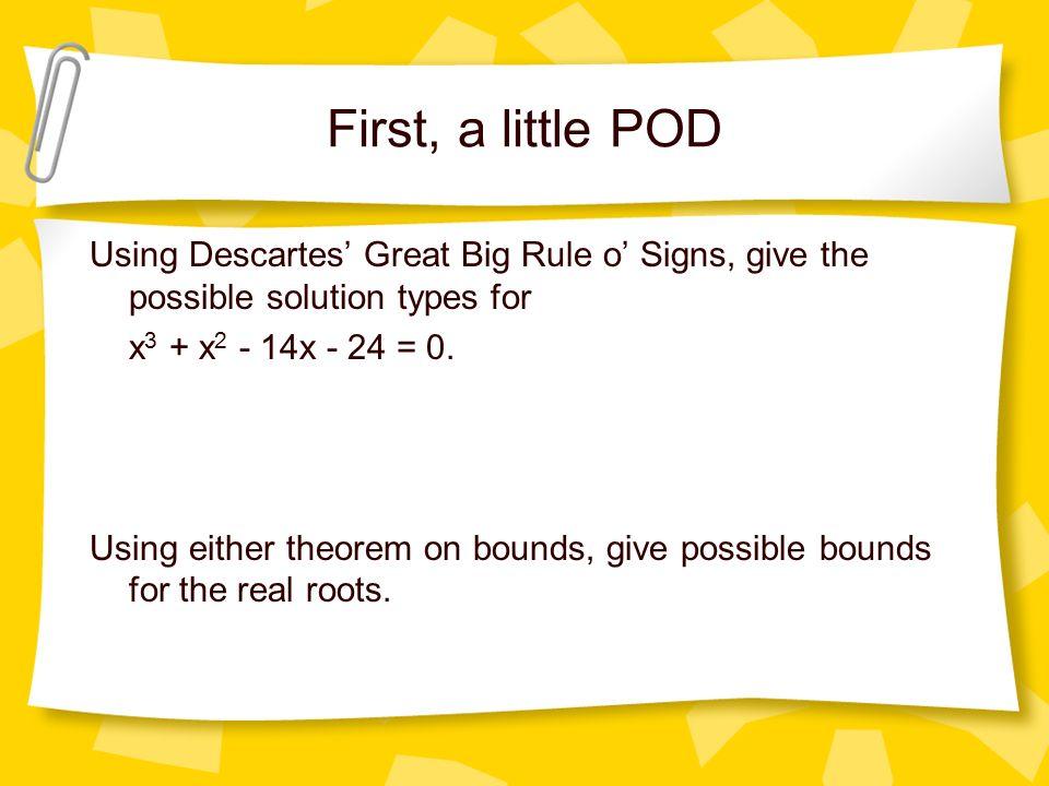 Descartes Rule Of Signs Worksheet Worksheets for all | Download ...
