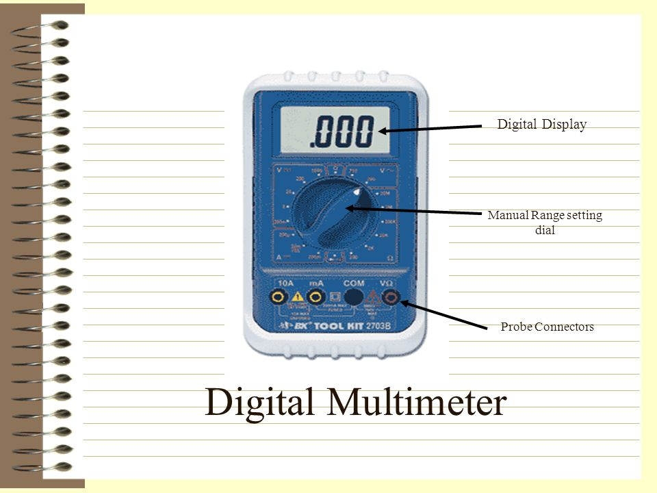 multimeter settings