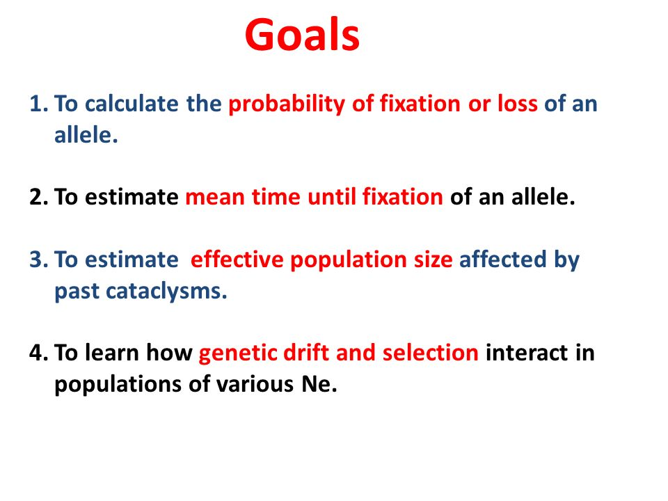Lab 6: Genetic Drift and Effective population size. - ppt download