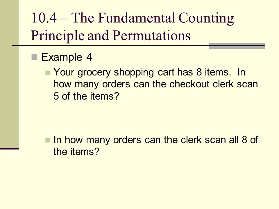 Chapter 10 Data Analysis and Probability 104 The Fundamental – Counting Principle Worksheet