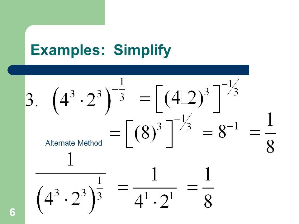 6 Alternate Method
