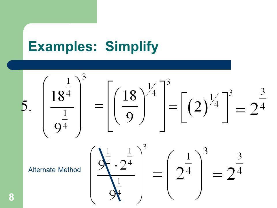 8 Alternate Method