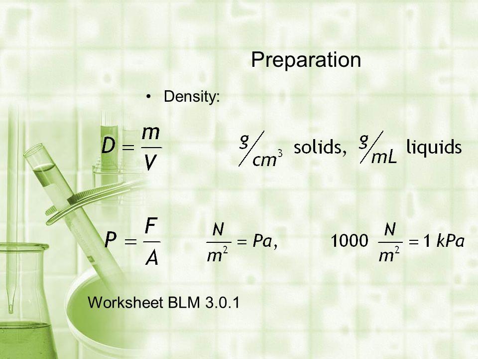 Density worksheet chemistry in context 2008 9