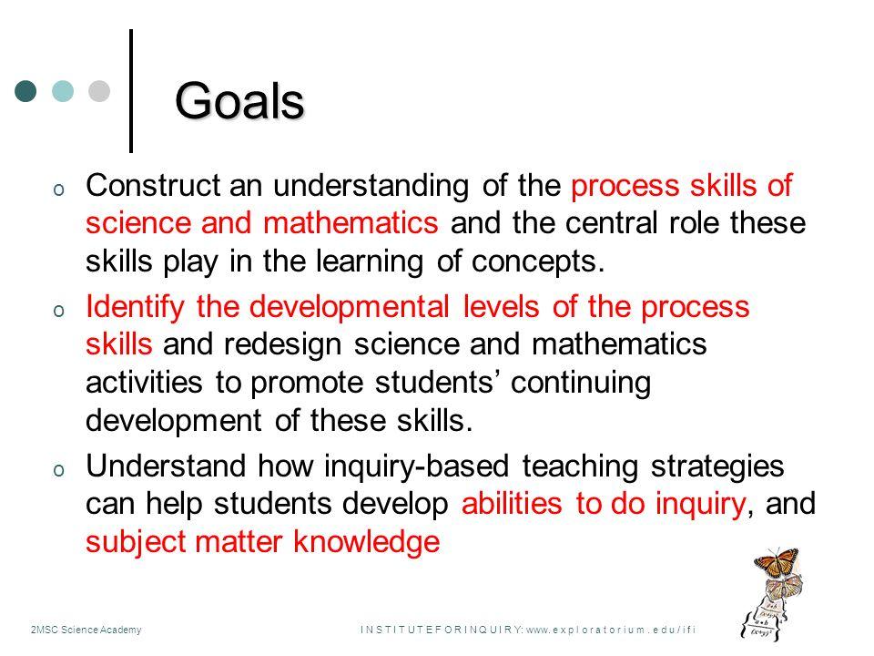 1 Process Skills of Science and Mathematics ...