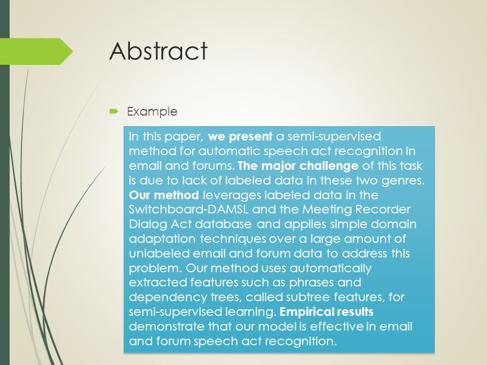 Science paper abstract