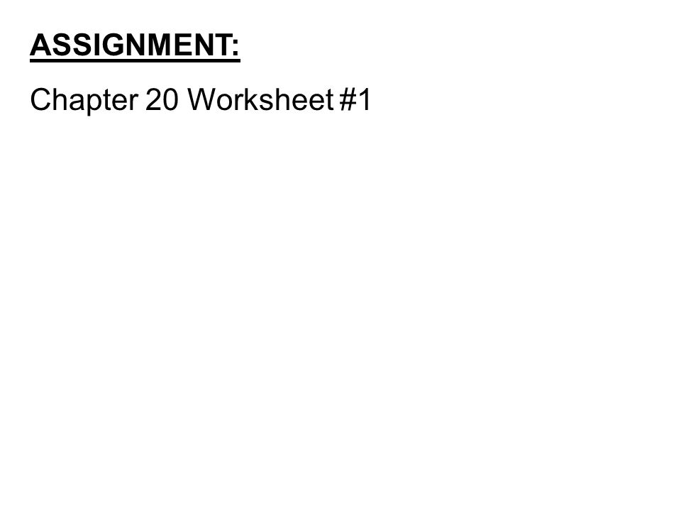 Chapter 20 OxidationReduction Reactions Anything in black letters – Chapter 20 Worksheet Redox