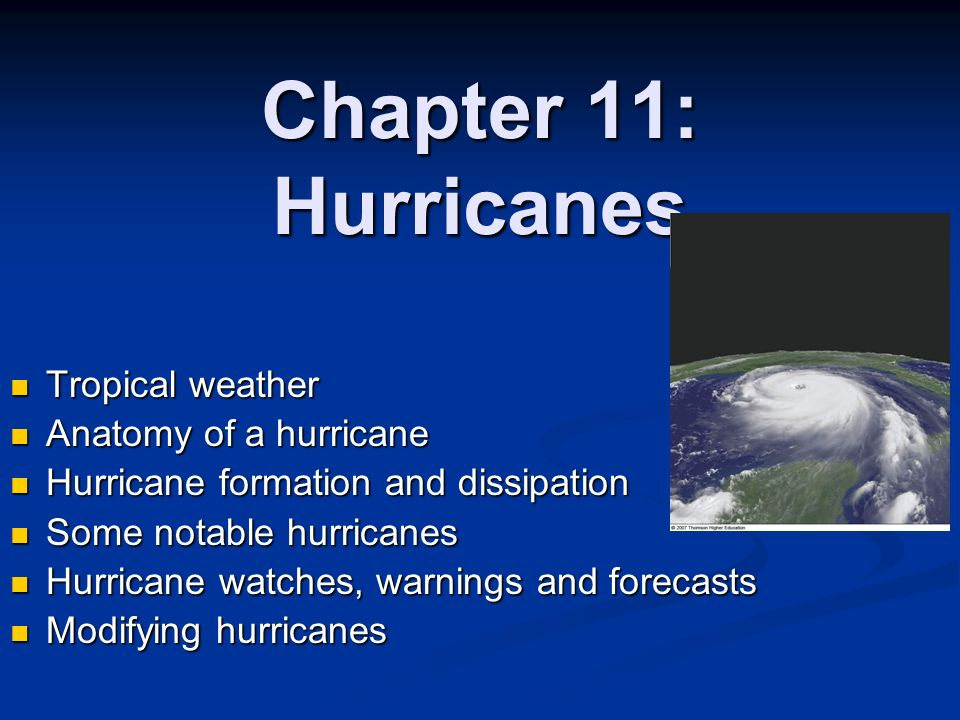 What are some factors that lead to a hurricane forming?