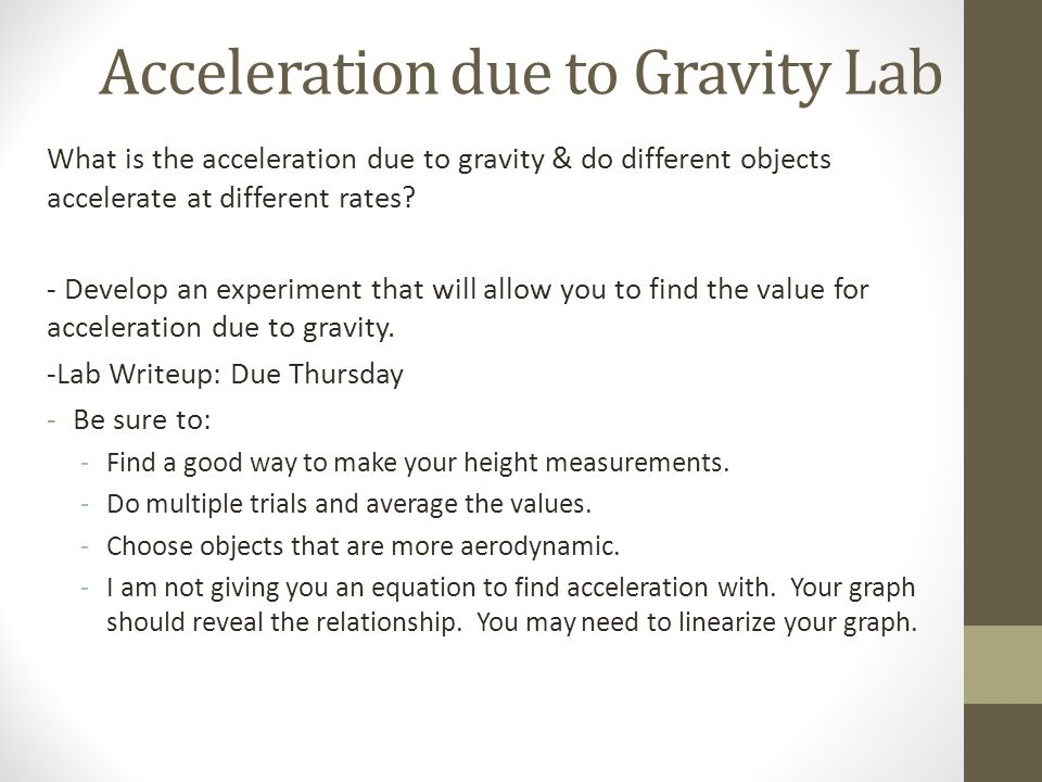 Equation For Acceleration Due To Gravity Jennarocca – Acceleration Due to Gravity Worksheet