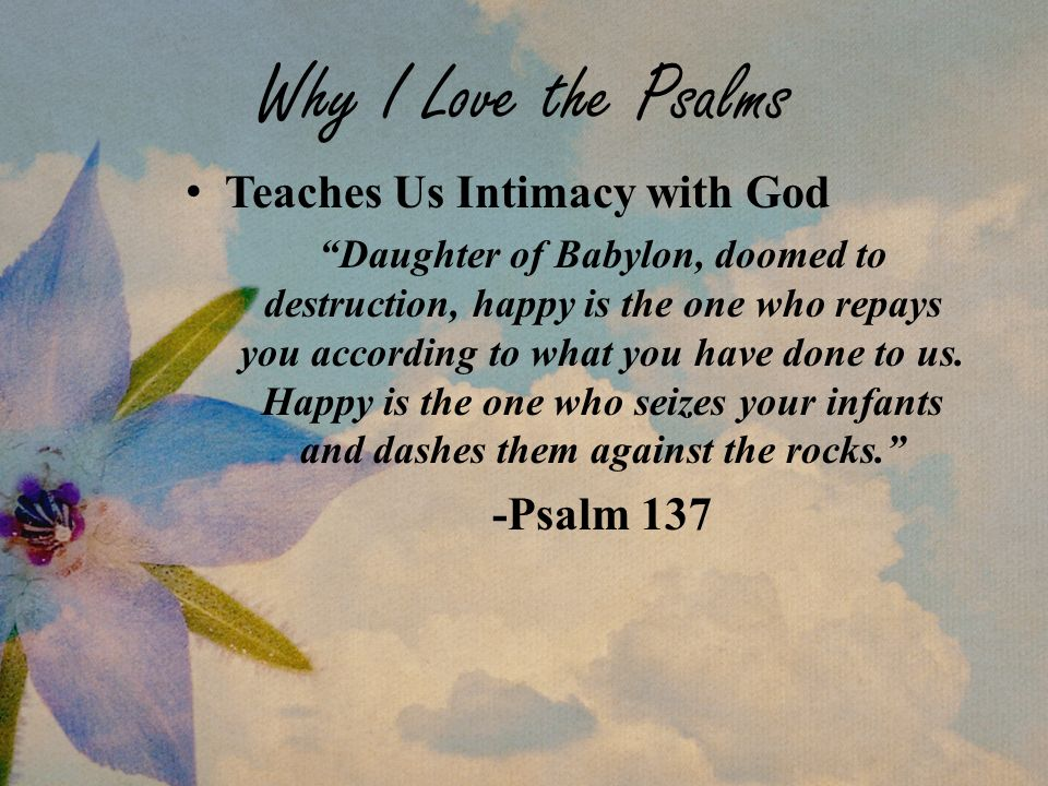 Why I Love The Psalms Teaches Us Intimacy With God Daughter Of Babylon,  Doomed To