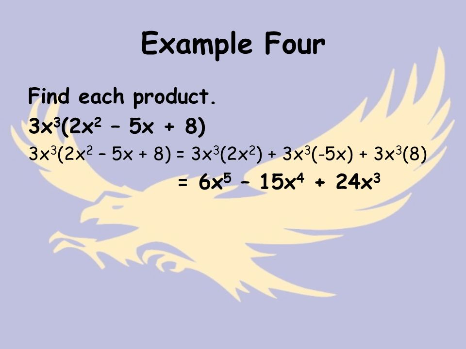 Example Four Find each product.