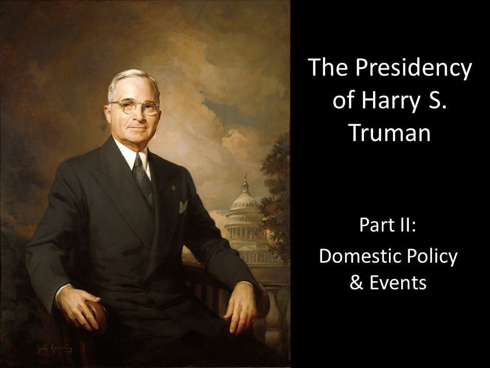 the presidency of harry s truman Harry s truman summary: harry s truman was the 33rd president of the united states of america he was born in 1884 in missouri raised on a farm, truman did not attend college after working a variety of jobs, he returned to.