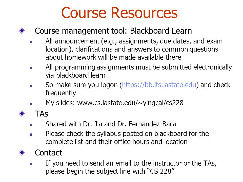 coursework resources