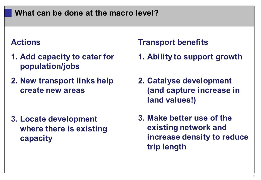 9 What can be done at the macro level.