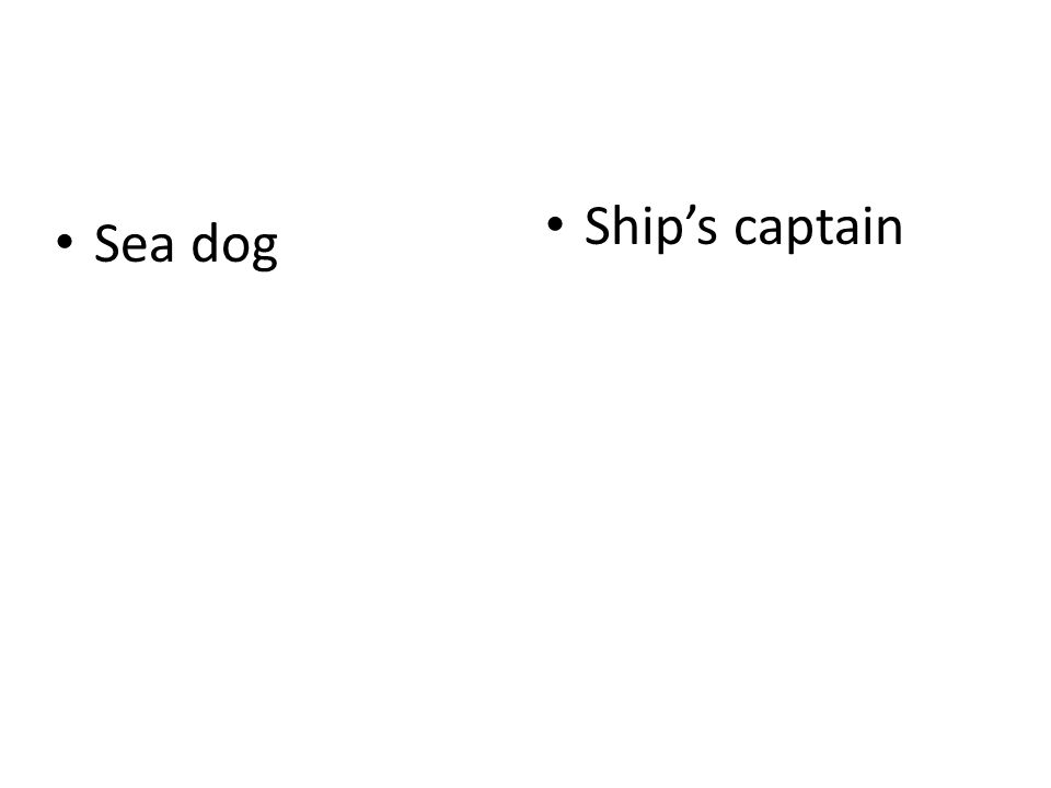Sea dog Ship's captain