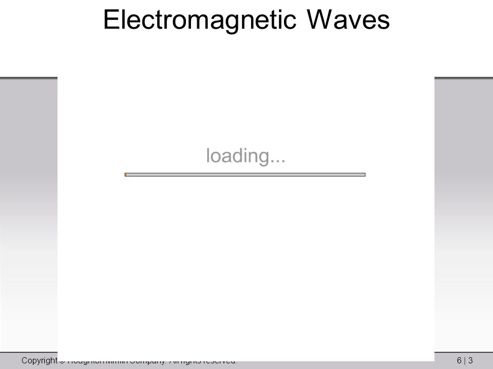 Copyright © Houghton Mifflin Company. All rights reserved.6 | 3 Electromagnetic Waves
