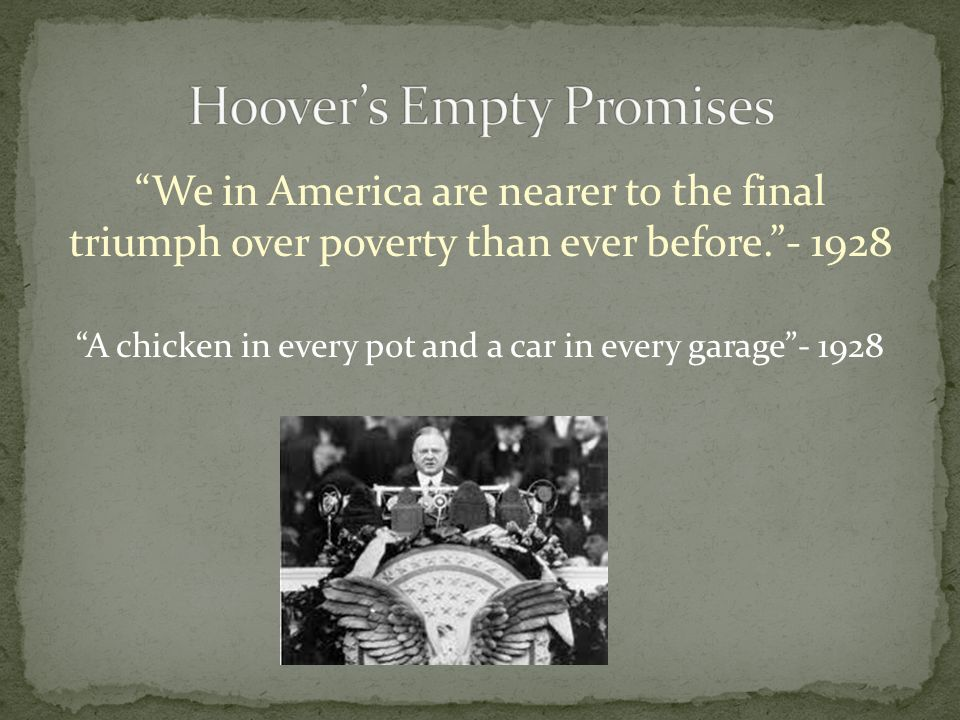 "characterization of hoover and his policy Nicknamed ""silent cal"" for his quiet, steadfast and frugal coolidge studied public policy questions the republican party turned to herbert hoover."