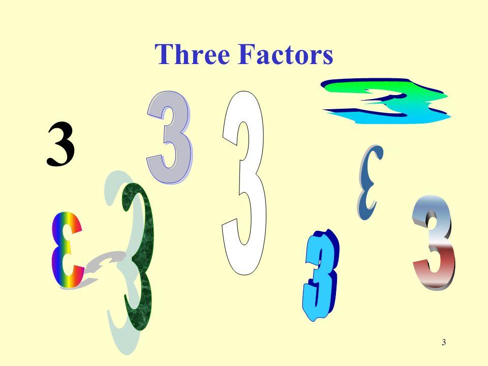 3 3 Three Factors