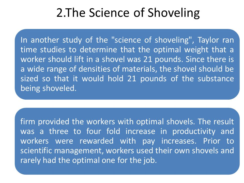 2.The Science of Shoveling In another study of the