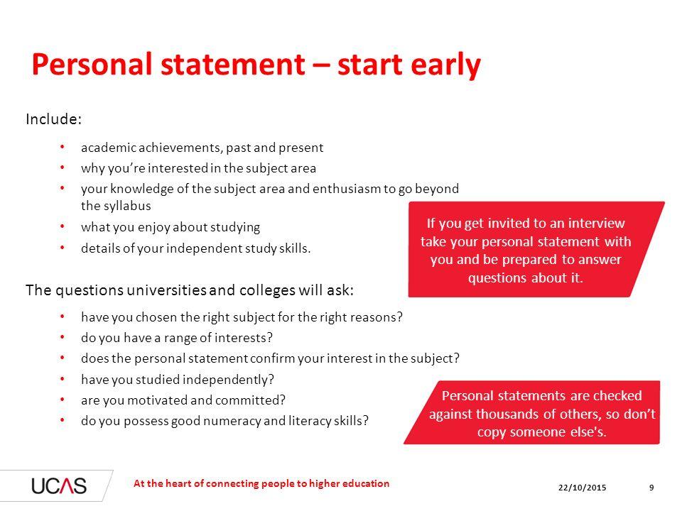 online personal statement