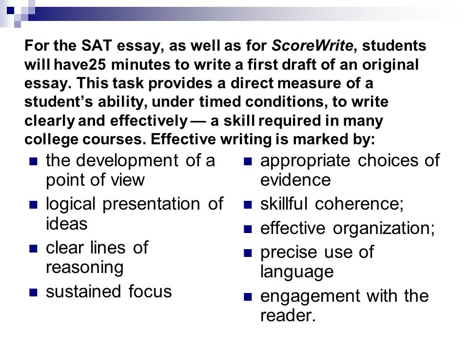 good example for sat essay