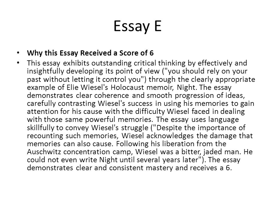 sat essays that received a 6 Home » blogs » karl hagen's blog » how much is an sat essay worth to your score refers to the old sat essay  students who receive a 0 on the essay.