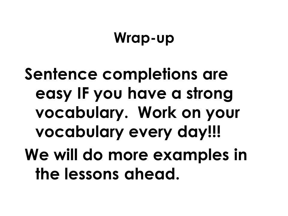 Essay Vocabulary