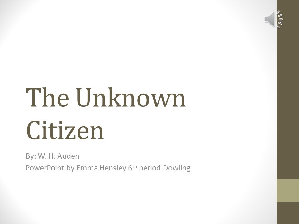 Essay On The Unknown Citizen By Wh Auden As I Walked - image 10