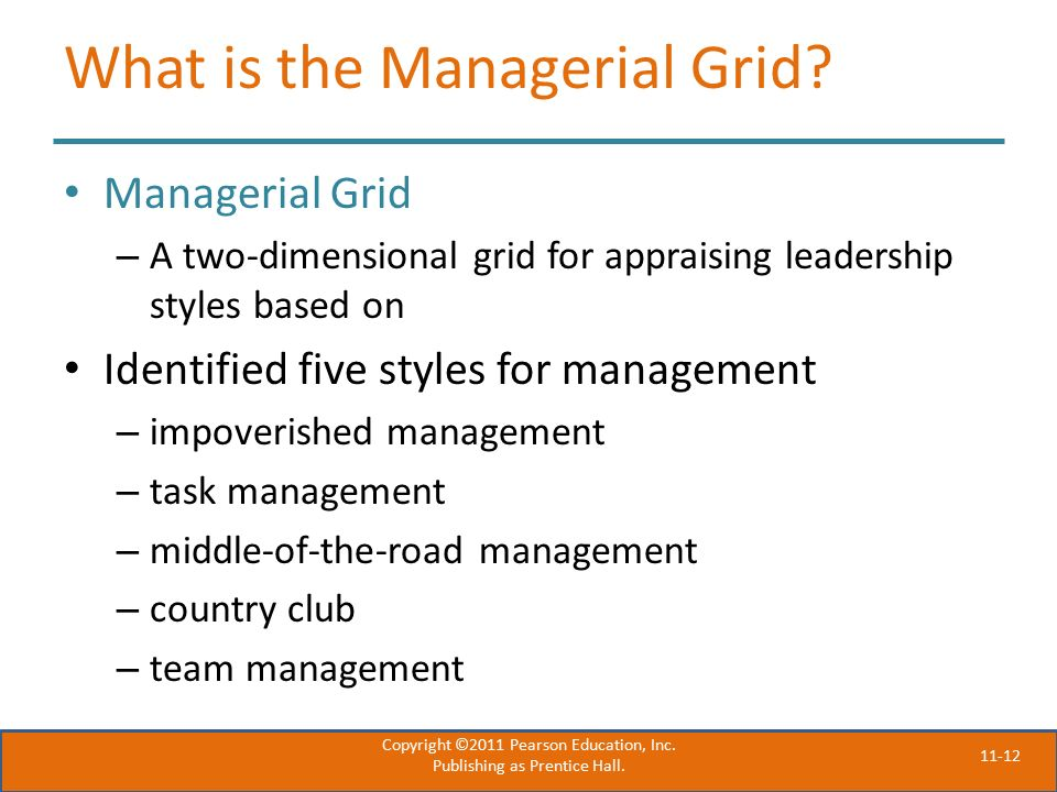 11-12 What is the Managerial Grid.