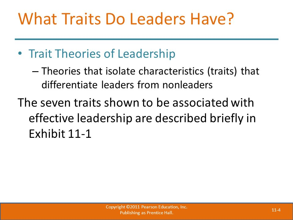 11-4 What Traits Do Leaders Have.