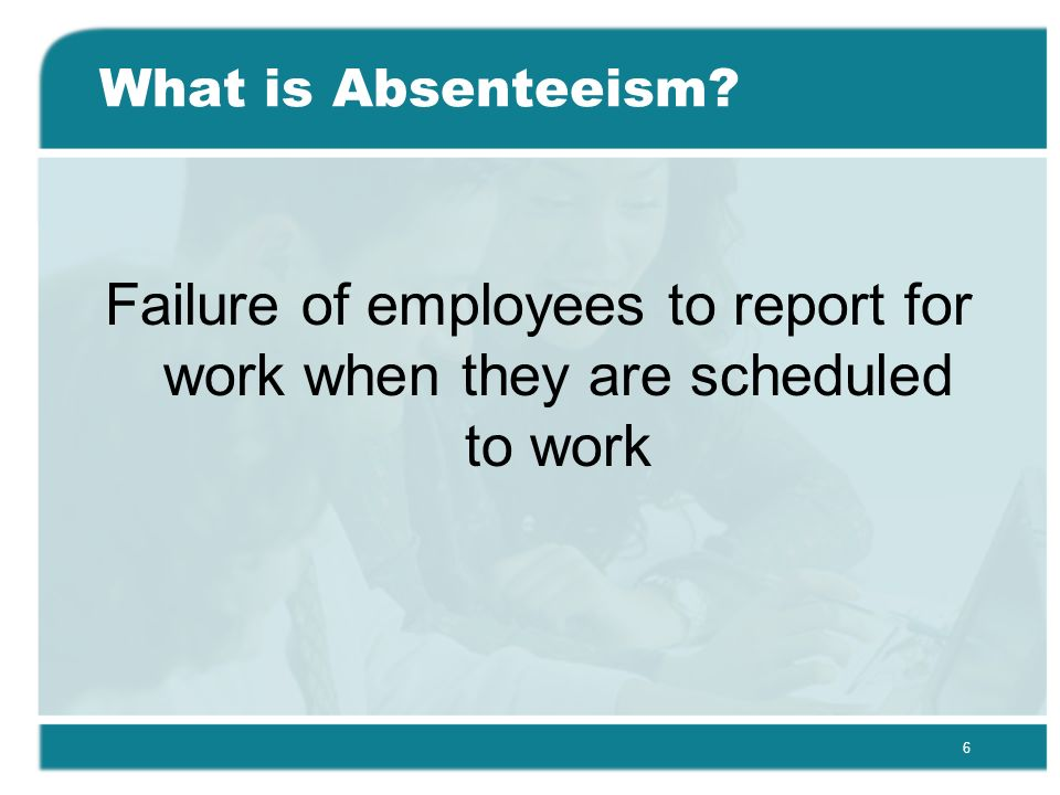 conclusion of employee absenteeism