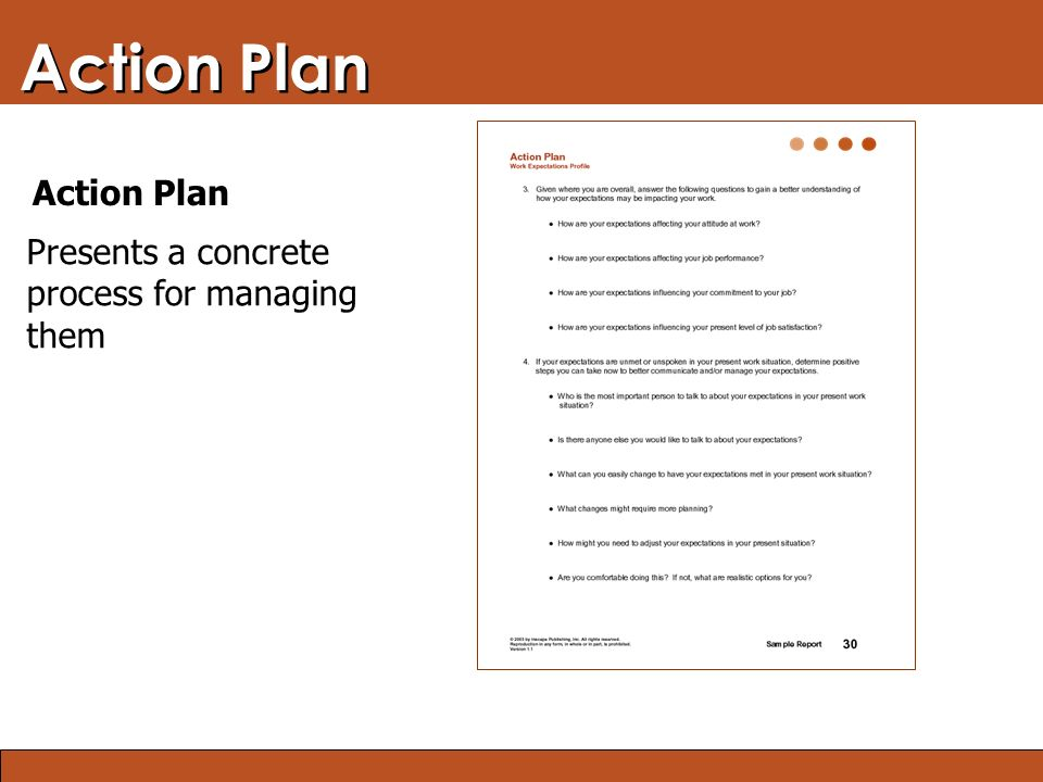 Blended Learning: Finding the Right Mix Action Plan Presents a concrete process for managing them Action Plan