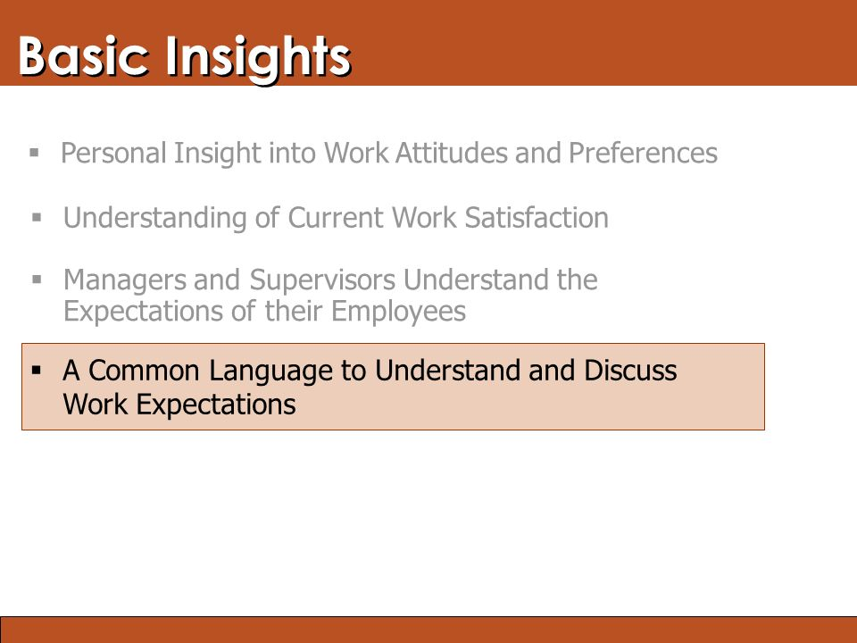 Blended Learning: Finding the Right Mix Basic Insights  A Common Language to Understand and Discuss Work Expectations  Managers and Supervisors Unde