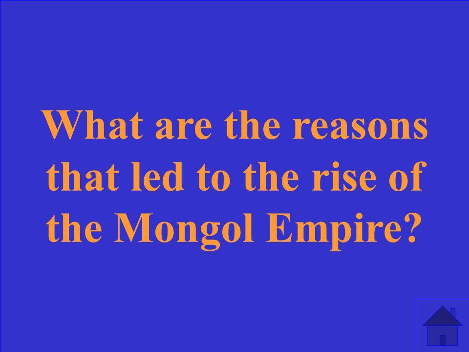 Genghis Khan, Stirrup Horsemanship