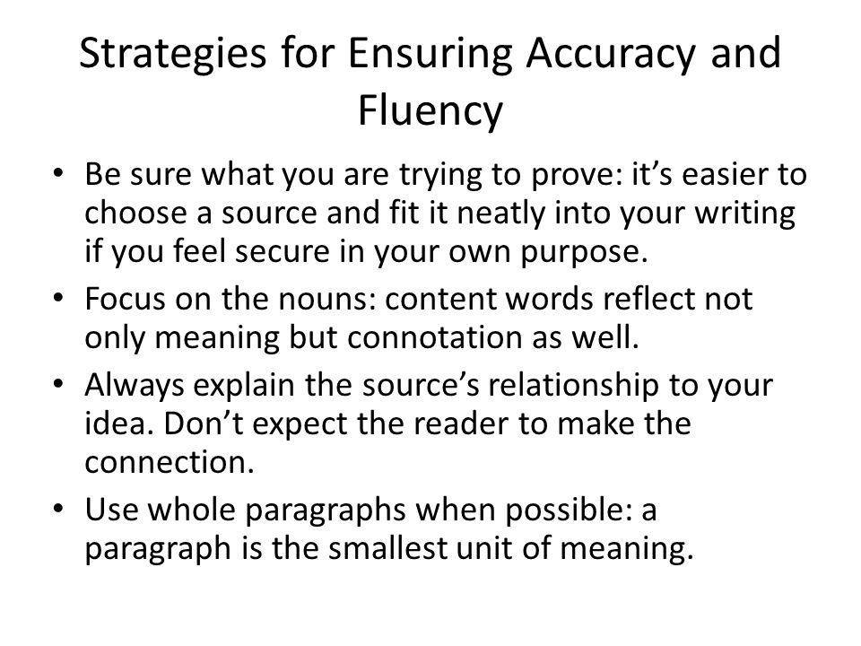Paraphrasing versus summarizing