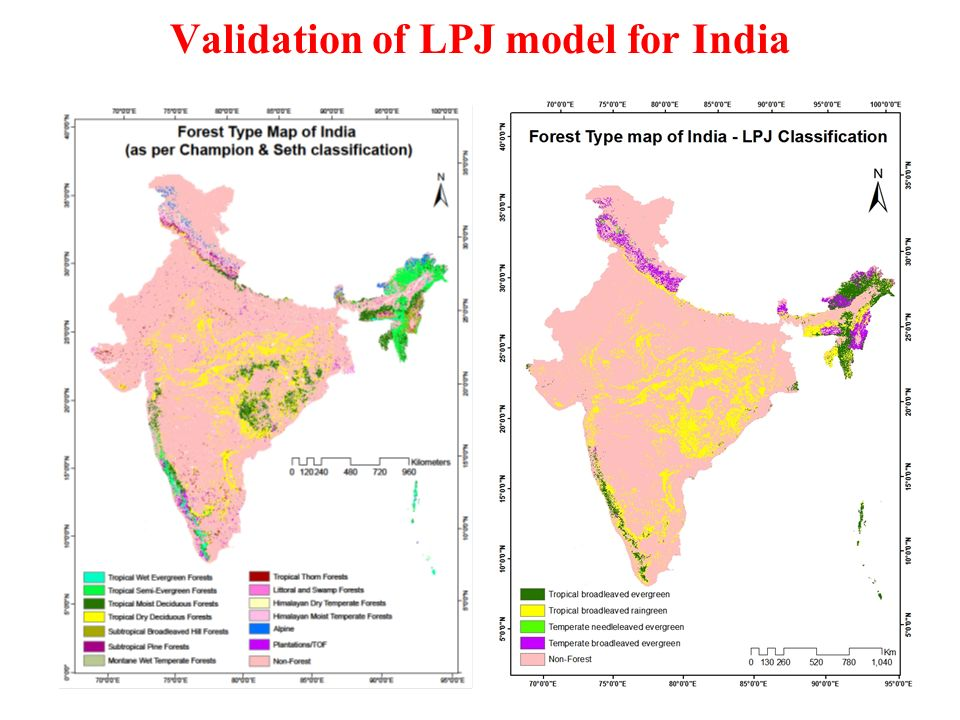 Validation of LPJ model for India