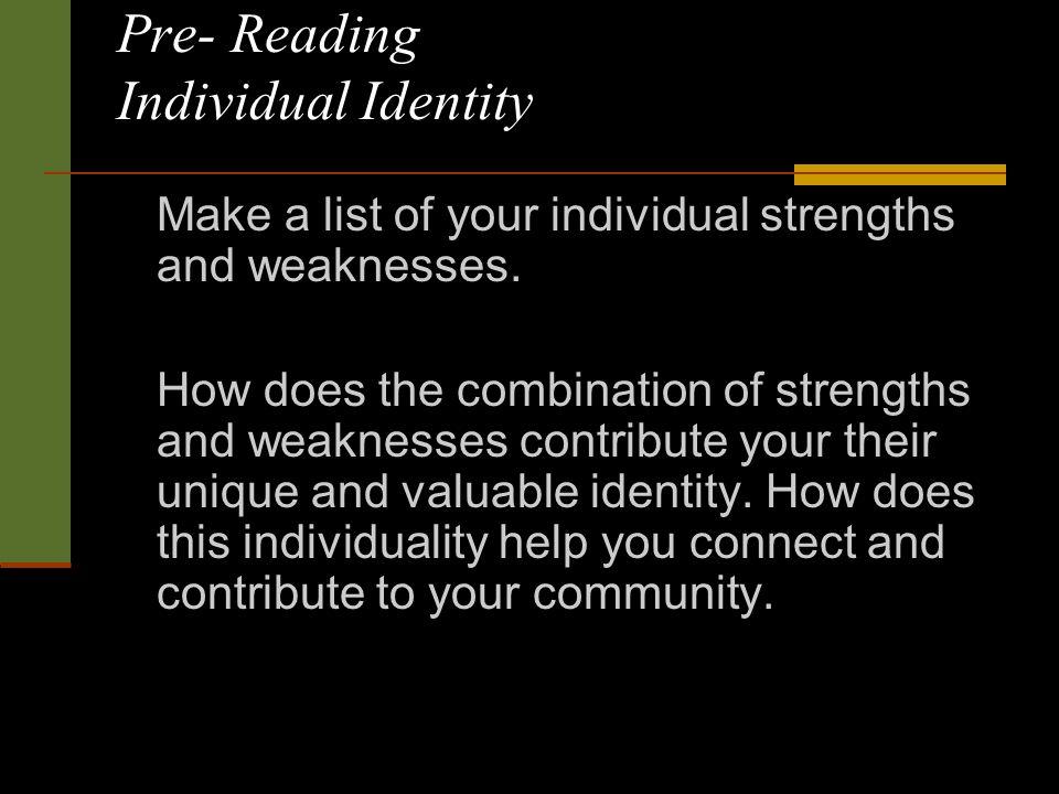 individuals identity essay