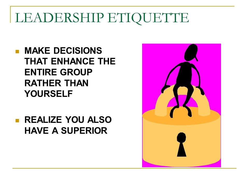TIPS FOR SUCCESSFUL LEADERSHIP MATCH THE TASK TO THE CAPABILITIES FO THE PERSON INVOLVE DIFFERENT PEOPLE DON'T DICTATE - DELEGATE.