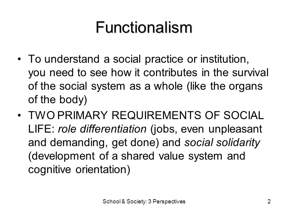 school society
