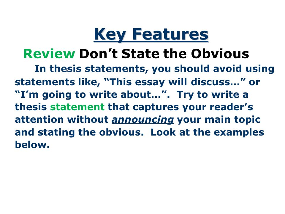 avoiding fallacies in thesis statements Essay components sample thesis statements the thesis statement is arguably the most important sentence of your essay and (avoiding) logical fallacies.