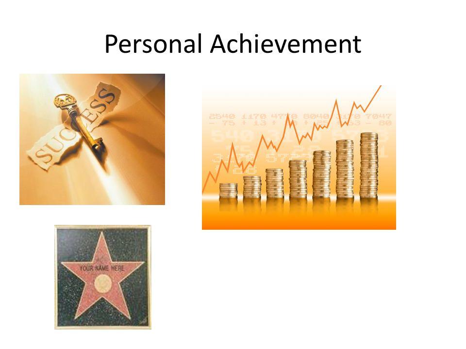 Personal Achievement